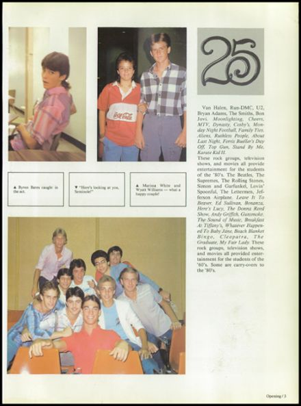 1987 Seminole High School (Pinellas County) Yearbook Page 7
