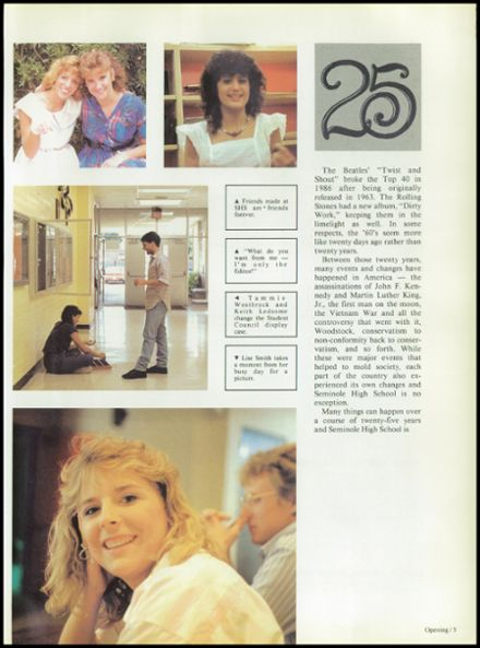 1987 Seminole High School (Pinellas County) Yearbook Page 9