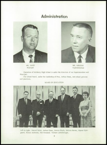 1966 McHenry High School Yearbook Page 8