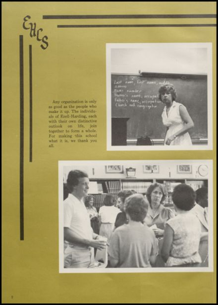 1981 Ezell Harding Christian High School Yearbook Page 6