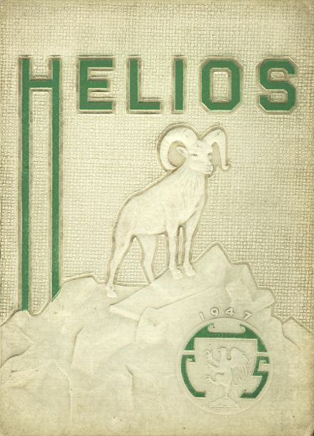 1947 Central High School Yearbook Cover