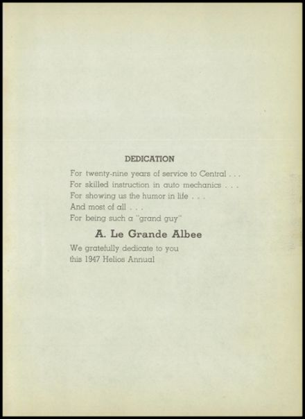 1947 Central High School Yearbook Page 9