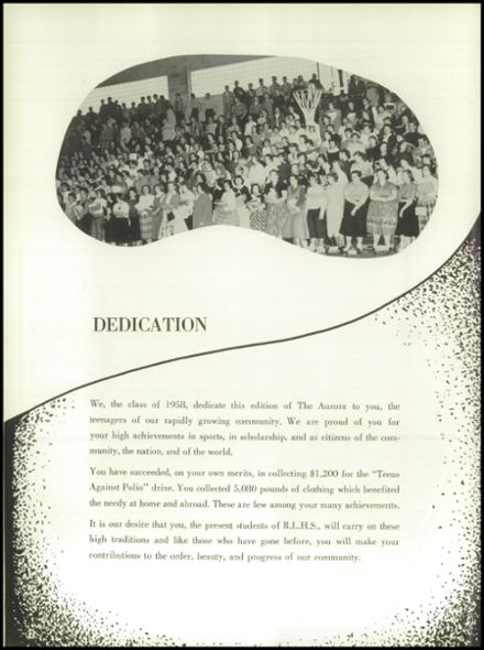 1958 Rice Lake High School Yearbook Page 6