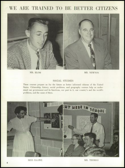 1958 Rice Lake High School Yearbook Page 8
