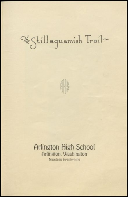 1929 Arlington High School Yearbook Page 5