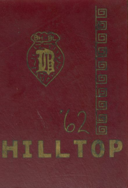 1962 Burnt Hills-Ballston Lake High School Yearbook Cover