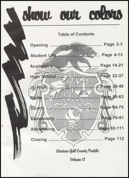 1997 Western Yell County High School Yearbook Page 5