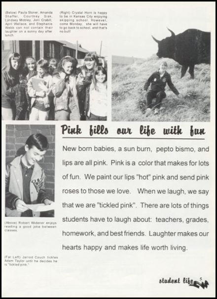 1997 Western Yell County High School Yearbook Page 9