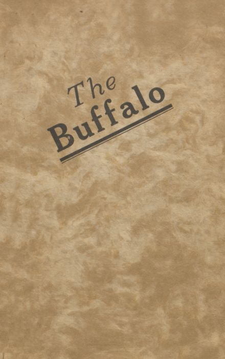 1921 Buffalo High School Yearbook Cover