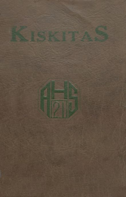 1921 Apollo High School Yearbook Cover