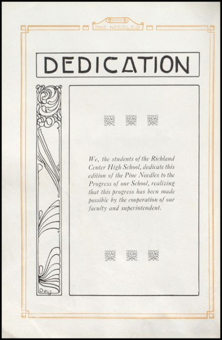 1926 Richland Center High School Yearbook Page 6