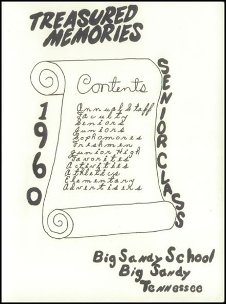 1960 Big Sandy High School Yearbook Page 5