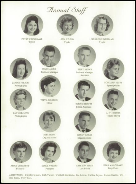 1960 Big Sandy High School Yearbook Page 6