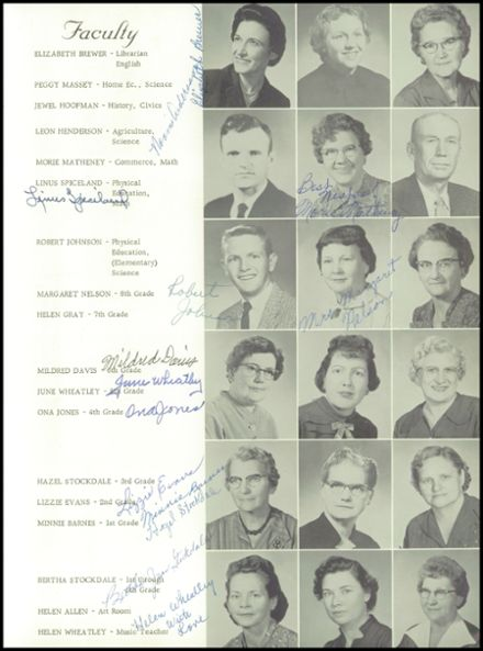 1960 Big Sandy High School Yearbook Page 9