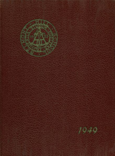 1949 Belmont Hill High School Yearbook Cover