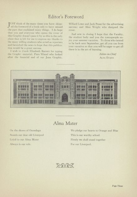 1938 Liverpool High School Yearbook Page 5