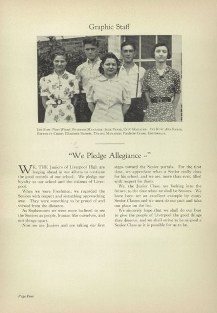 1938 Liverpool High School Yearbook Page 6