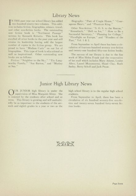 1938 Liverpool High School Yearbook Page 9