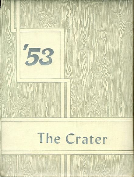 1953 Chester High School Yearbook Cover