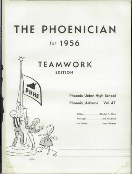 1956 Phoenix Union High School Yearbook Page 5
