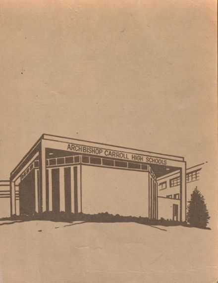 1973 Archbishop Carroll High School Yearbook Page 1