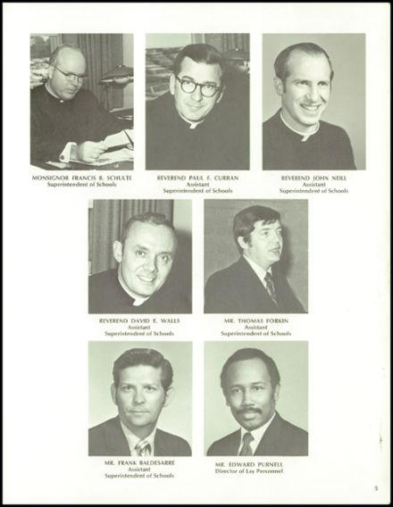 1973 Archbishop Carroll High School Yearbook Page 9