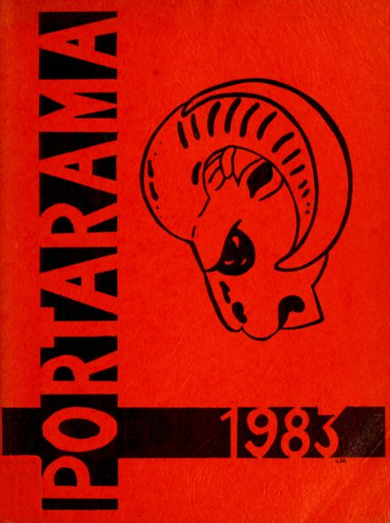 1983 Portage Middle School Yearbook Cover