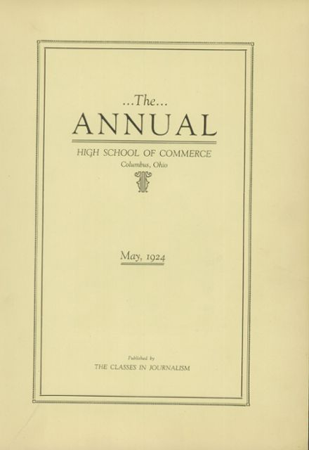 1924 Central High School Yearbook Online Columbus Oh Classmates