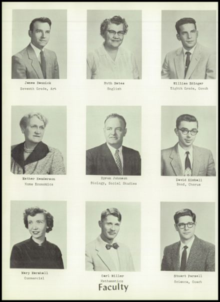 1957 Dimondale High School Yearbook Page 8