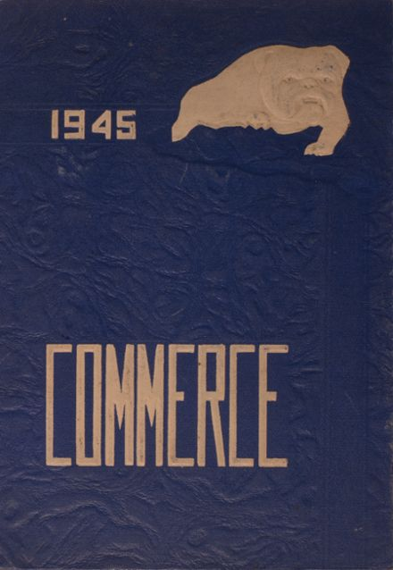 1945 Commerce High School Yearbook Cover