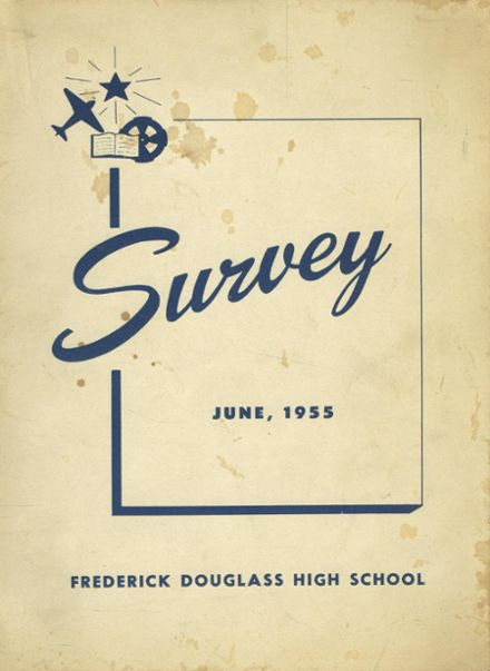 1955 Frederick Douglass High School 450 Yearbook Cover