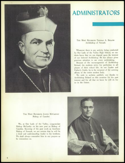 1957 Our Lady of the Valley High School Yearbook Page 8