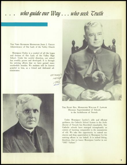 1957 Our Lady of the Valley High School Yearbook Page 9