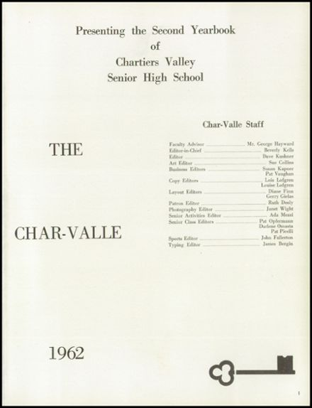 1962 Chartiers Valley High School Yearbook Page 5