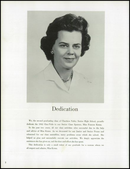 1962 Chartiers Valley High School Yearbook Page 6