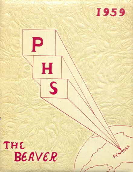1959 Penrose High School Yearbook Cover