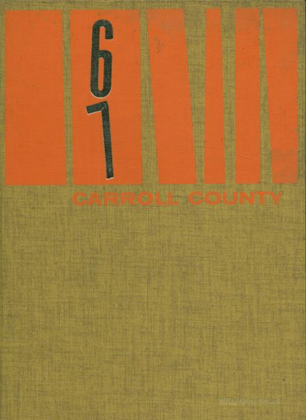 1967 Carroll County High School Yearbook Cover