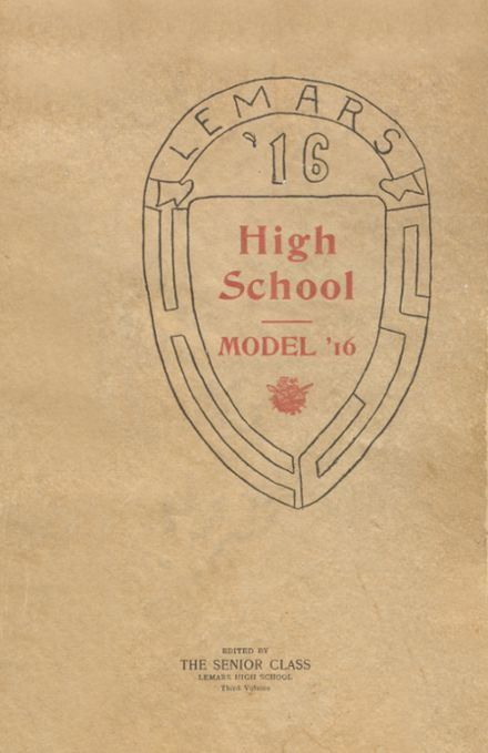 1916 Le Mars Community High School Yearbook Cover