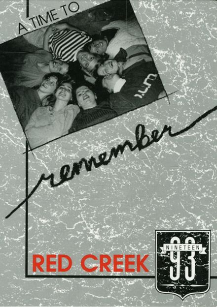 1993 Red Creek Central High School Yearbook Cover