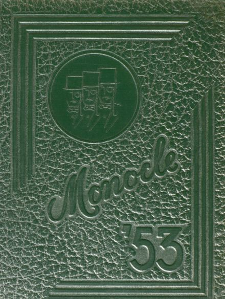 1953 Lemon Monroe High School Yearbook Cover