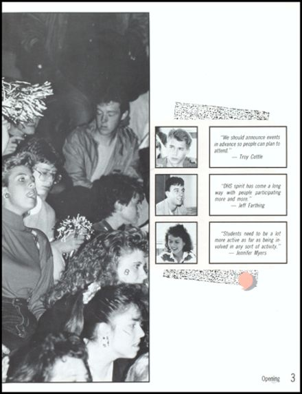 1989 Danville High School Yearbook Page 7
