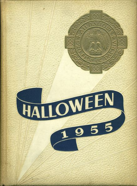 1955 All Hallows High School Yearbook Cover