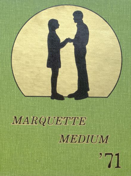 1971 Marquette High School Yearbook Cover