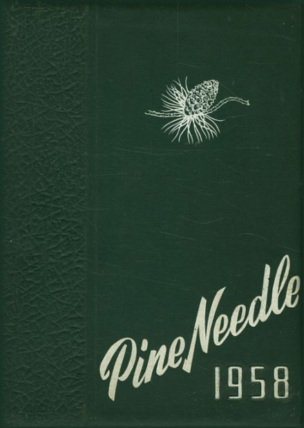 1958 Pine Level High School Yearbook Cover
