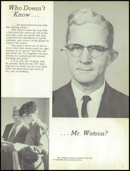 1971 Delight High School Yearbook Page 7