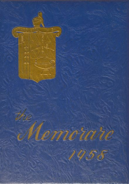 1958 Marquette High School Yearbook Cover
