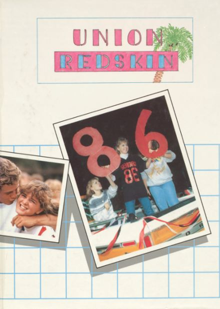 1986 Union High School Yearbook Cover