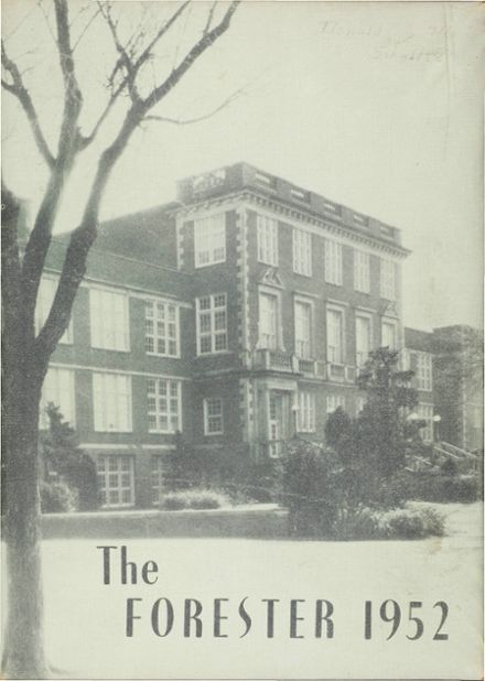 1952 Forest Avenue High School Yearbook Cover