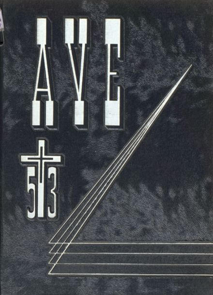1953 Immaculate Conception High School Yearbook Cover