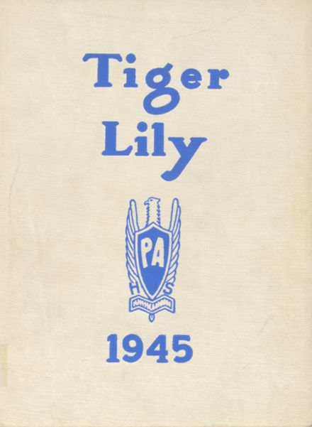 1945 Port Allegany High School Yearbook Cover